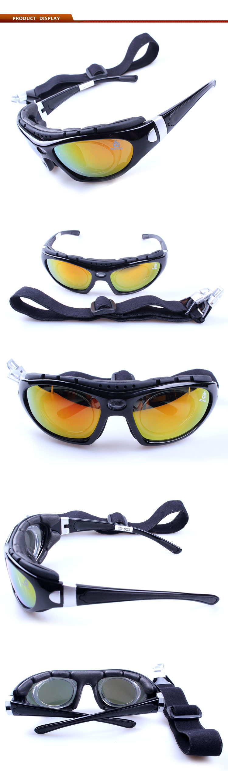 Latest PC/Polarized lens with Anti-UV400 windproof outdoor cycling sunglasses