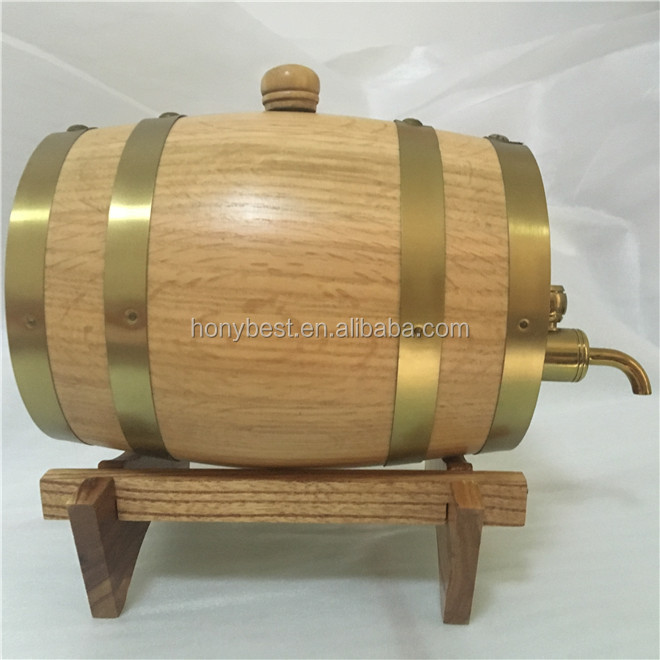 1.5L,30L Custom Size Top Grade Wooden Packaging Wine Beer Keg Whiskey Barrel for Storage