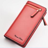 Women Wallets Brand Design 2016 Cell phone Card Holder Long Lady Wallet Purse Clutch Curewe Kerien brand