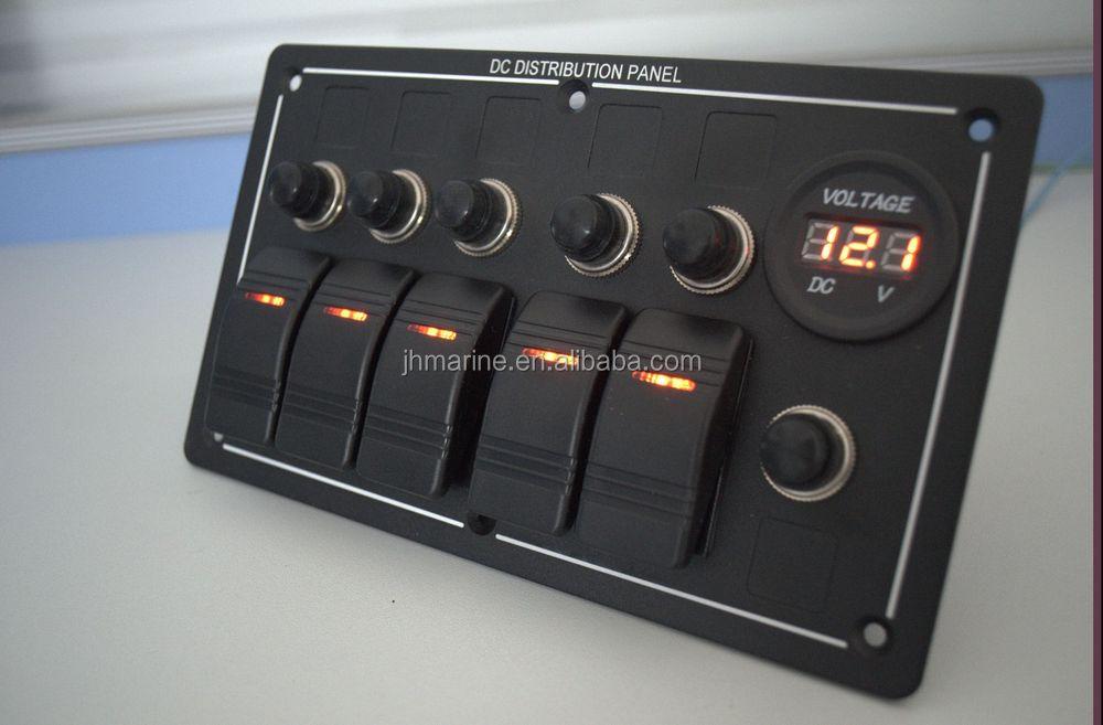 12 Volt Rocker Switch Panel For Boat Car Yacht Rv