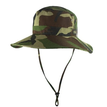 Fashion Style Boonie Cap Classic Military Camo Bucket Hat With String 28d77de2e2c