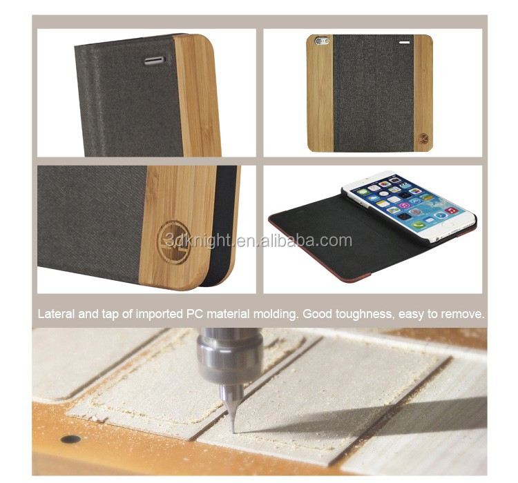 2016 Newest for iPhone 6s Plus Case Cover, Optional Wood Bamboo Stand Flip Cover for iPhone 6s Leather Case