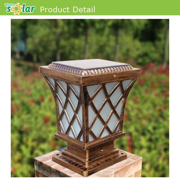 Aluminum Waterproof Outdoor Lighting Fixture Solar Gate Post ...