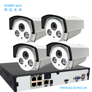 GOING tech EHK-POE 4K 8MP 5MP 3MP 2MP cctv ip camera system kit with POE NVR 4 8 16 24CH