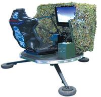 shotting game !!! Antiaircraft game machine gun B with seat funny game machine