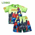 Lenrick 2016Pajamas For Boy Pajamas Set Baby Girls Kids Clothes Children Cartoon Clothing Set Spiderman Kids