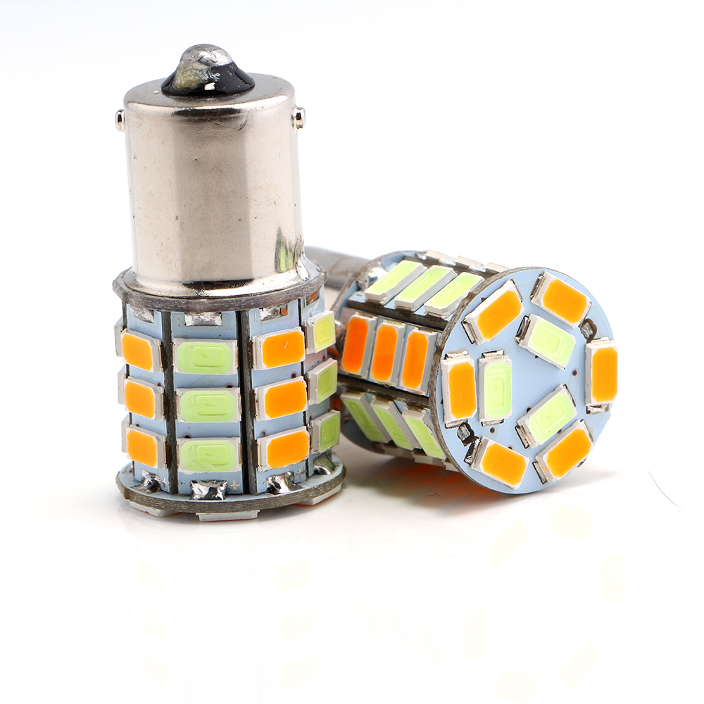 S25 T20 T25 BA15S 1156 7440 3156 33SMD Lamp 5630 LED 12VDC Richtingaanwijzer Reverse Backup Lamp Amber en ice Blue Conversie