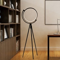 Fashion style decorative home live room aluminum tripod modern led floor lamp