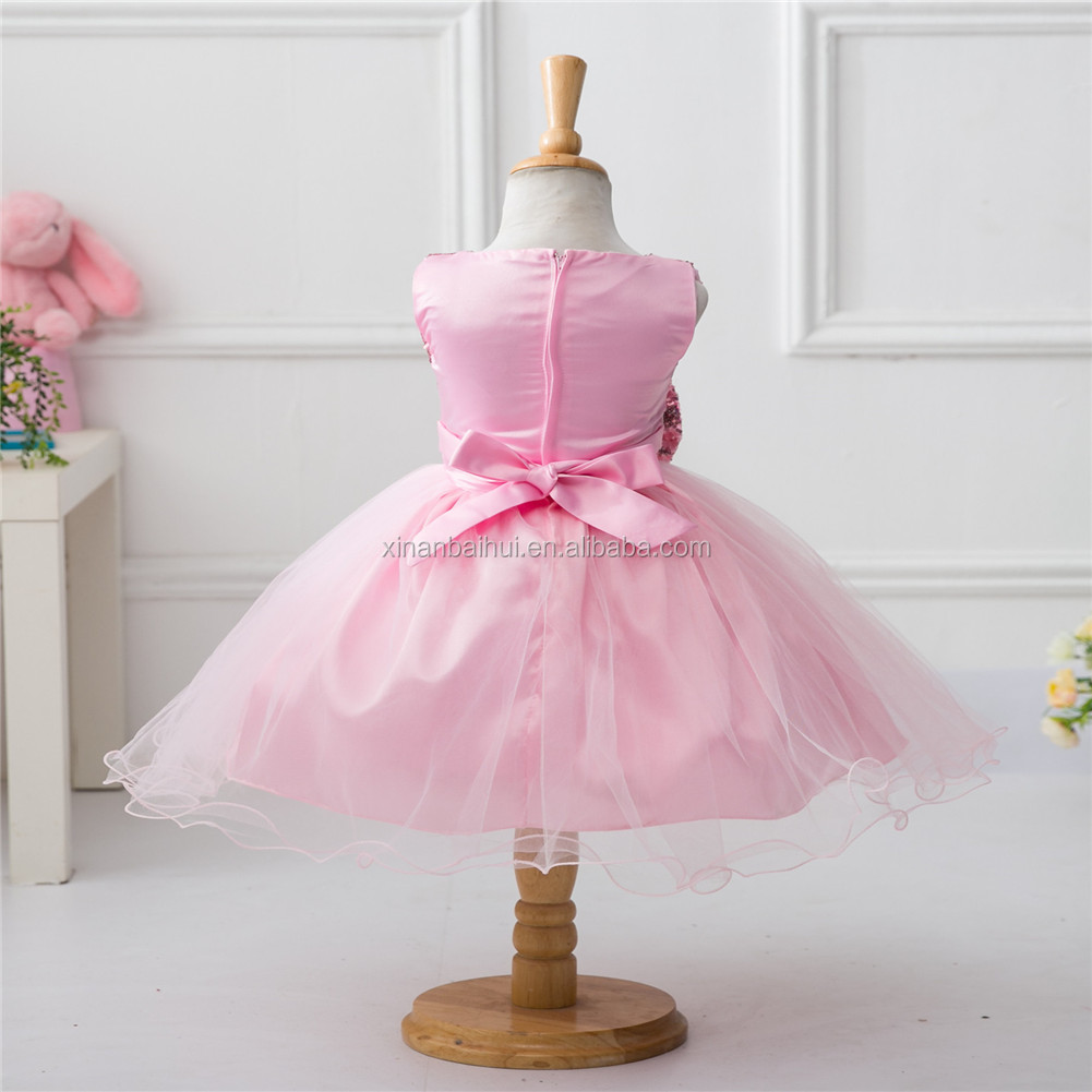 Girl Sequins Dress Kid Birthday Party Dress With Bow Flower Girl ...