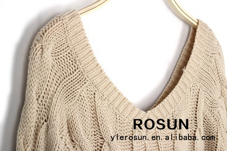 374f03ad3 Wholesale top quality sexy knitted deep V neck free knitting pattern sweater