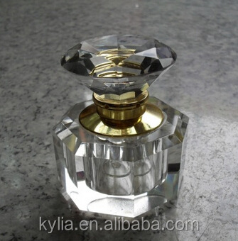 3ml samll crystal glass perfume bottle with caps