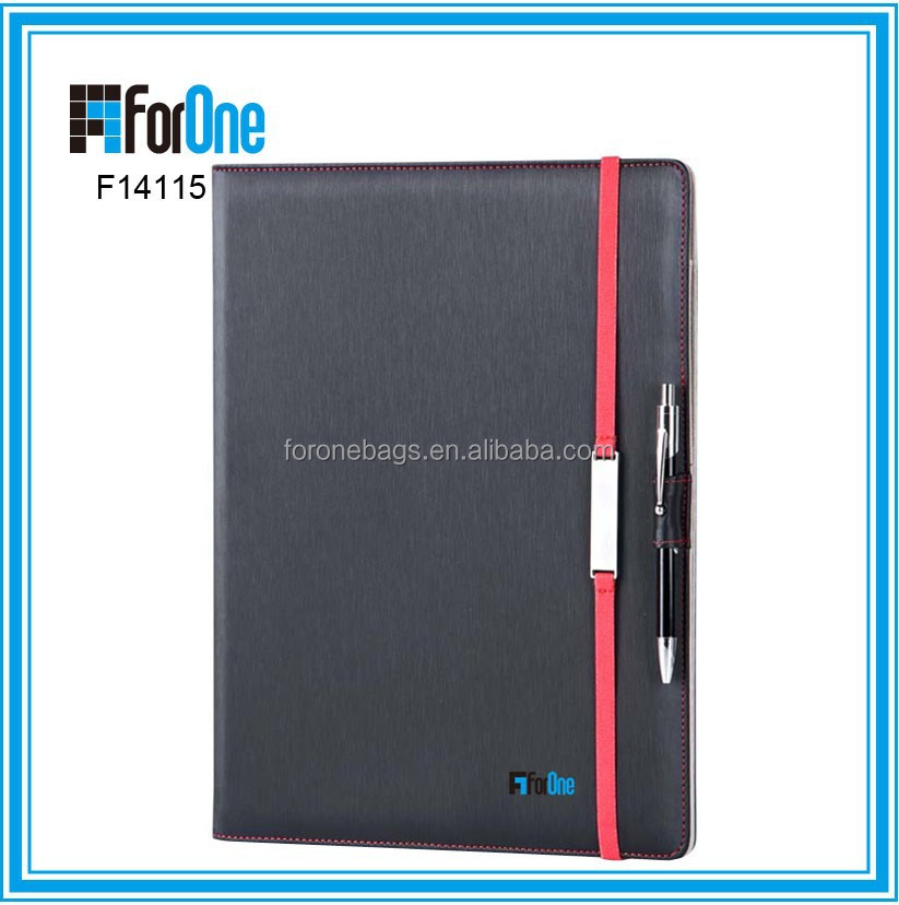 multifunctional PU notebook for gift, multifunctional PU folder for promotion