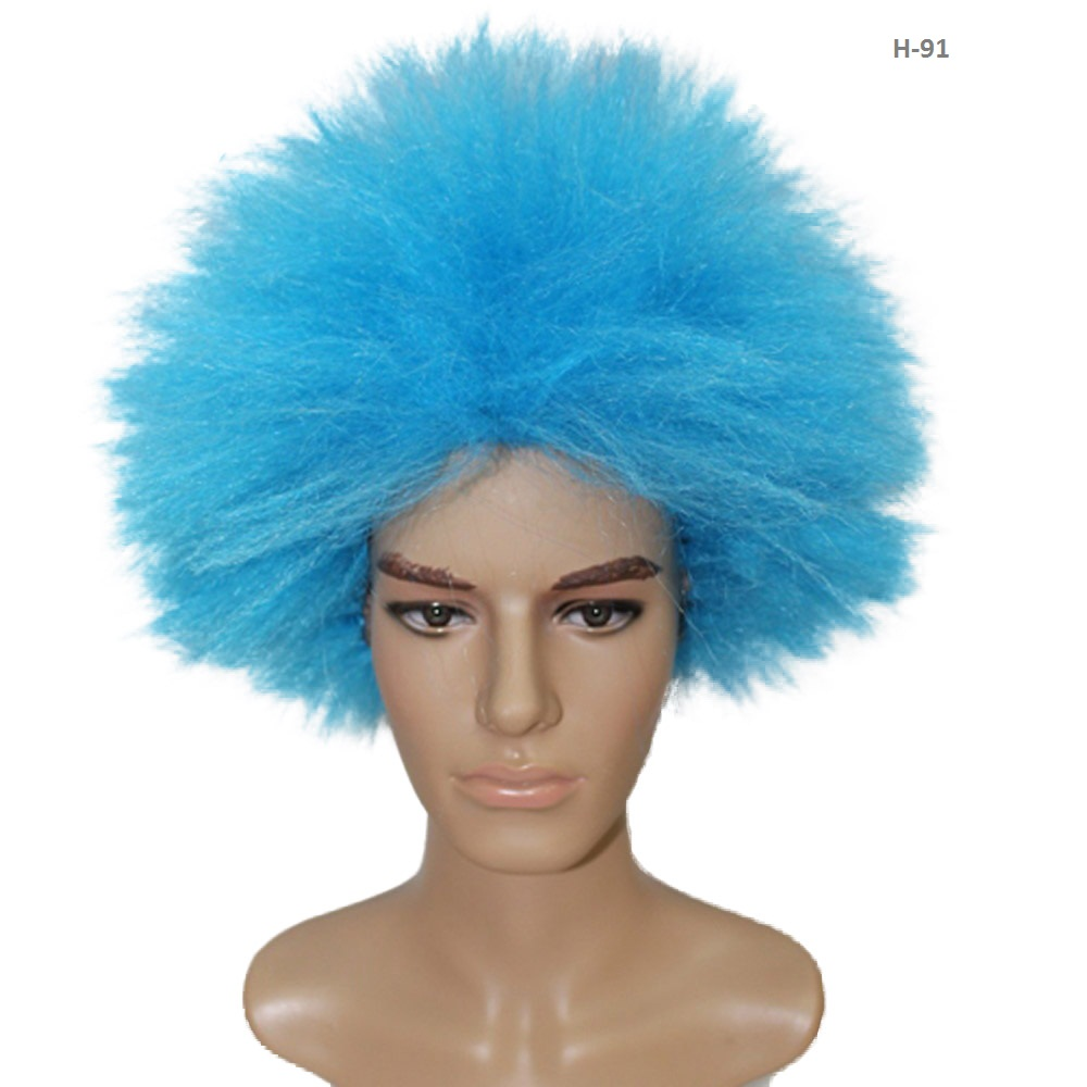 2017 New Short Straight Light Blue Dr Seuss Series Funny character Thing One Wig