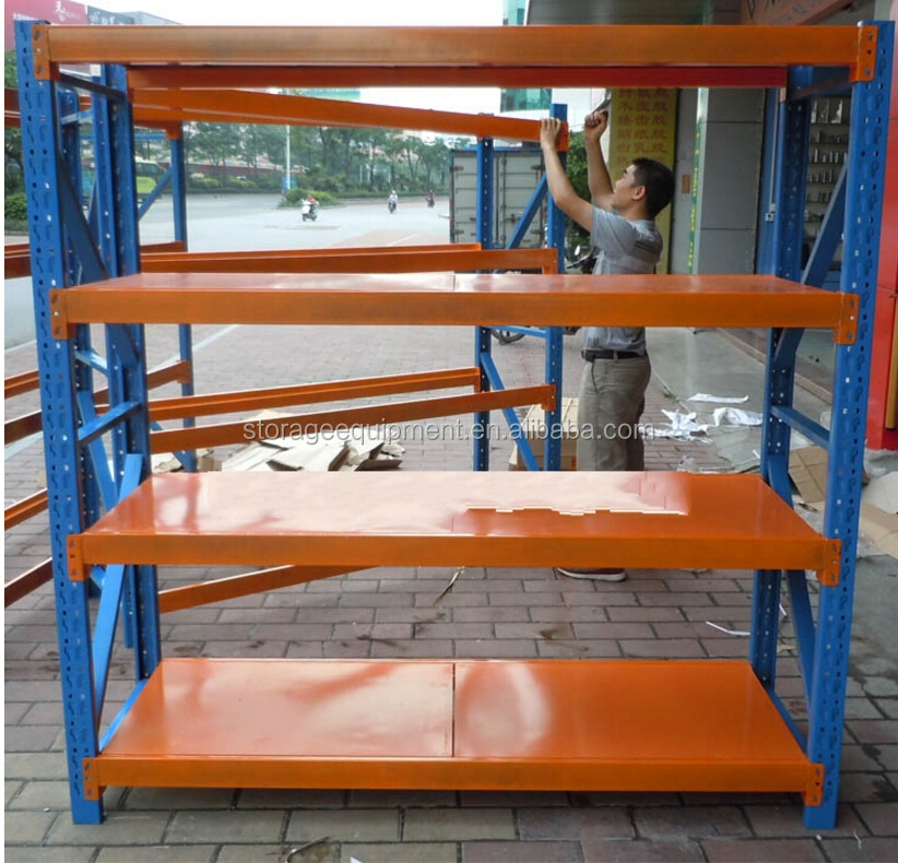 warehouse storage rack& medium duty rack with loading 500 kg per <strong>shelf</strong>