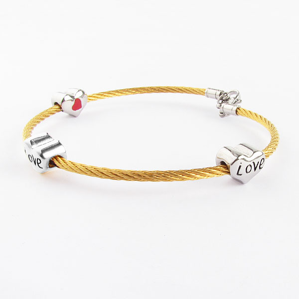 2016 Custom Wholesale Gold Twisted Wire Bangle Friendship Band For ...