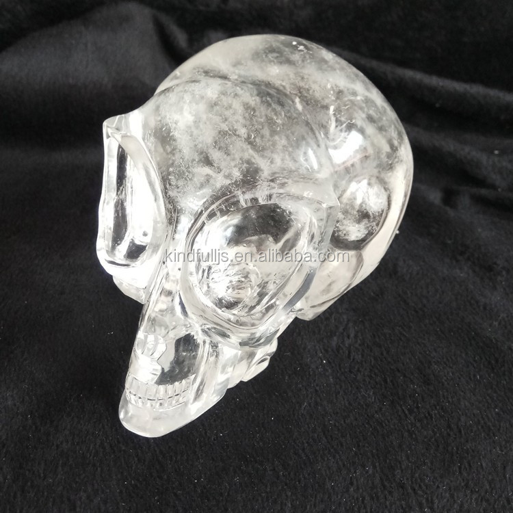 Wholesale Hand Carved Natural Clear Quartz Crystal Alien Skull