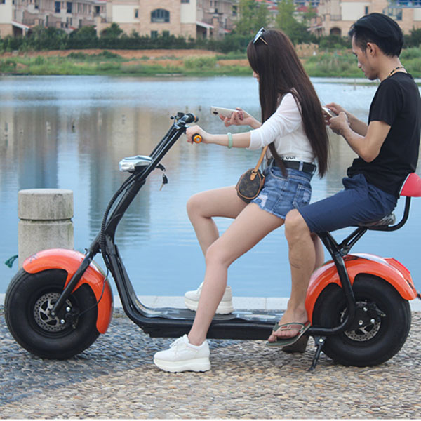 2017 Popular Harley Scrooser Style Electric Scooter With Two Wheels Fashion City Scooter Citycoco
