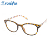 2017 plastic unisex cheap anti-blue reading glasses computer eyewear with colorful pattern temple