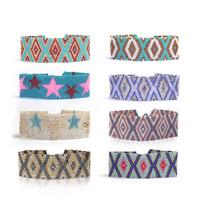 3cm Width Free Size Handmade Nepal Women Glass Beaded Bracelets Wholesale