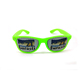 Sun glasses with Custom Logo Sticker Cheap Plastic Promotion Pinhole Sunglasses