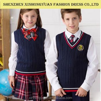 5d4e963c26611 Elegante Chica Uniforme Escolar
