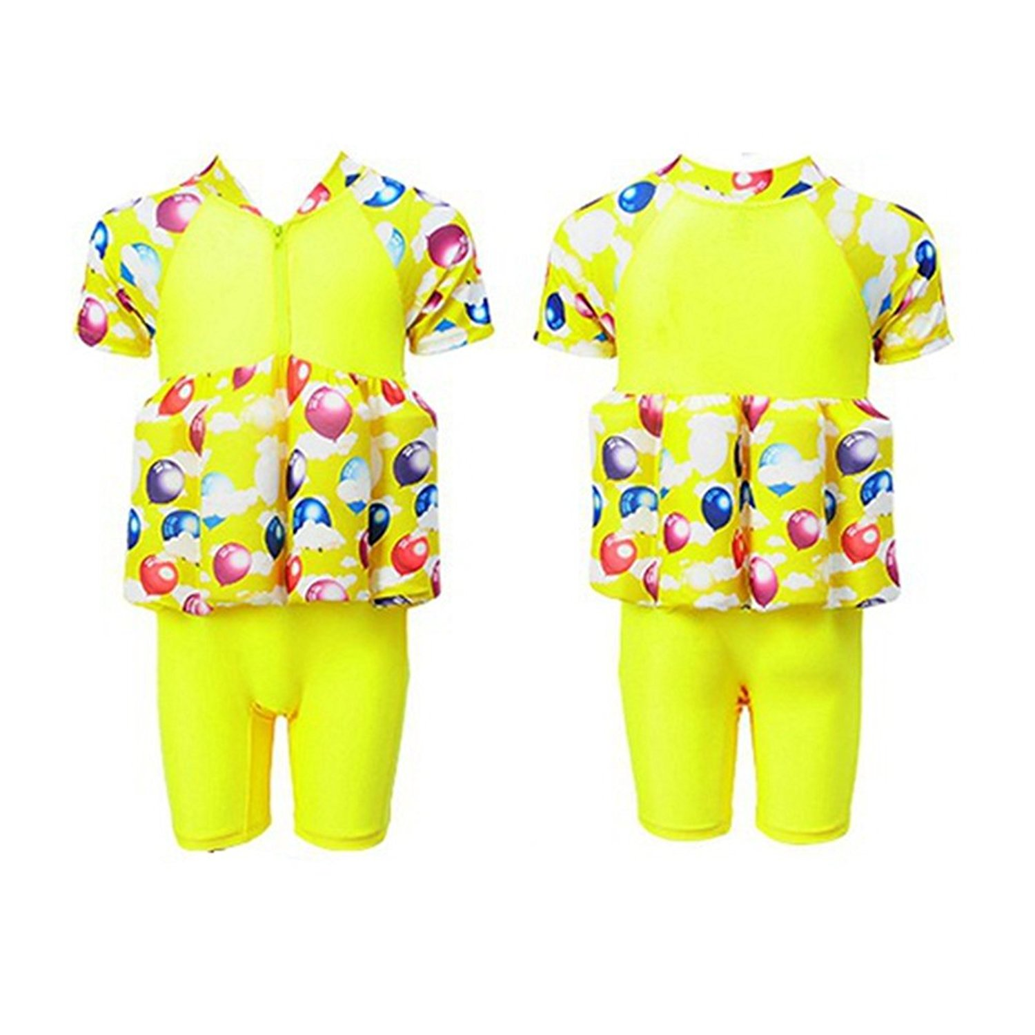 3d2181a34a Get Quotations · One-Piece Floating Buoyancy Baby Girl/Boy Swimsuits with  Cap Detachable Swimwear Kids Swimming