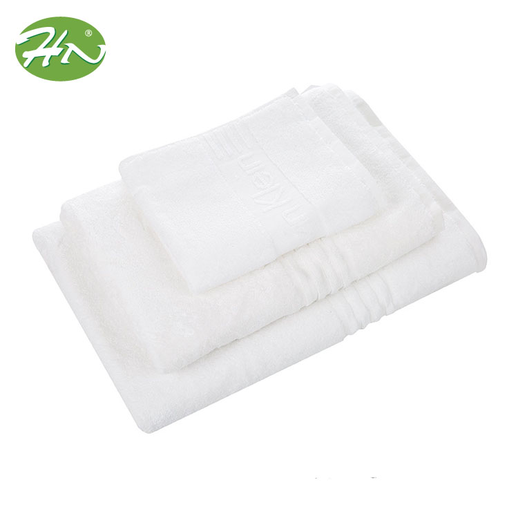 100 Cotton Pure White Bath Towel With Flower Design