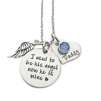 Top selling jewelry rhodium plating hand stamped necklace