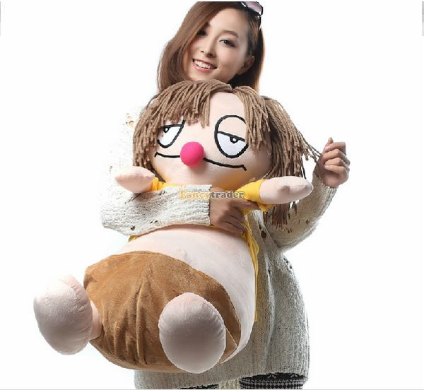 Fancytrader Novelty Toy! 28'' / 70cm Super Funny Stuffed Soft Plush Giant Cartoon Toy, Nice Gift For Baby, Free Shipping FT50875