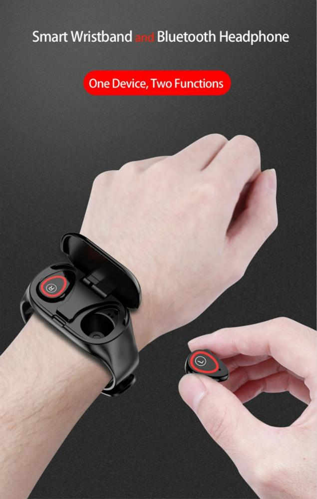 wearable bracelet smartwatch earbuds for gift