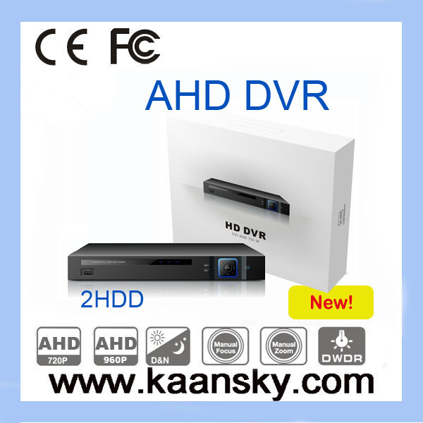 2015 KAANSKY New product hot sale h.264 P2P 4ch ahd dvr 1080p ahd dvr with 2HDD