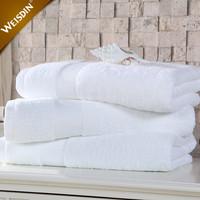 Manufacturers wholesale towel set luxury hotel dobby 100% cotton white bath towels