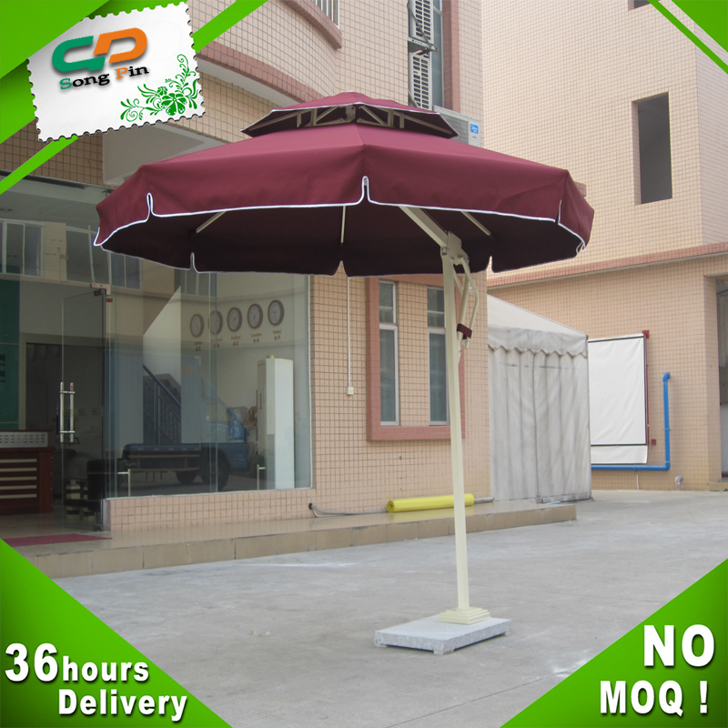 Decorative color 2.5m umbrellas with polyester material