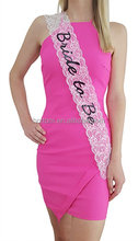 Bachelorette Party Bridal Lace Sashes Set 6pcs per set