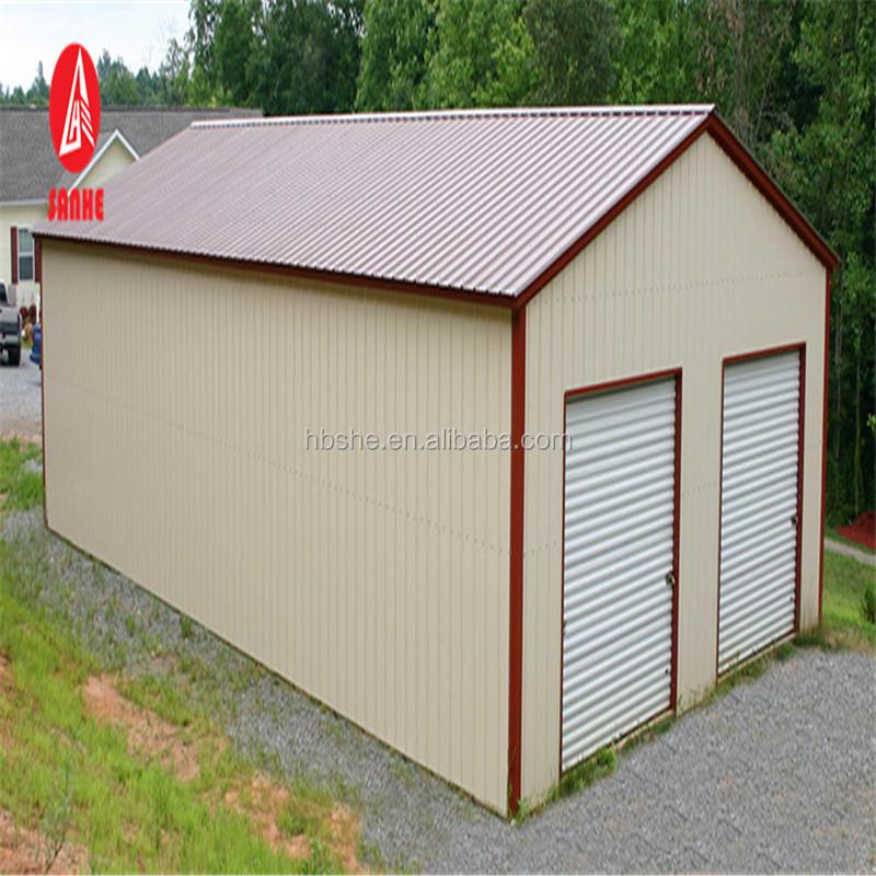 Portable Car Shed Steel Square Tube Frame Metal Building For Garage ...