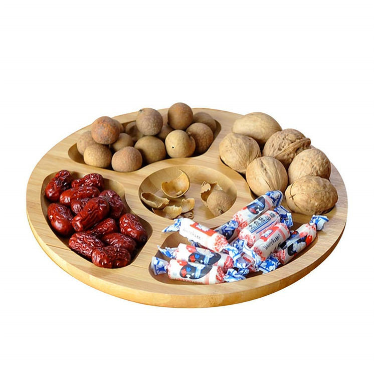 Cheap round wooden serving platters and trays