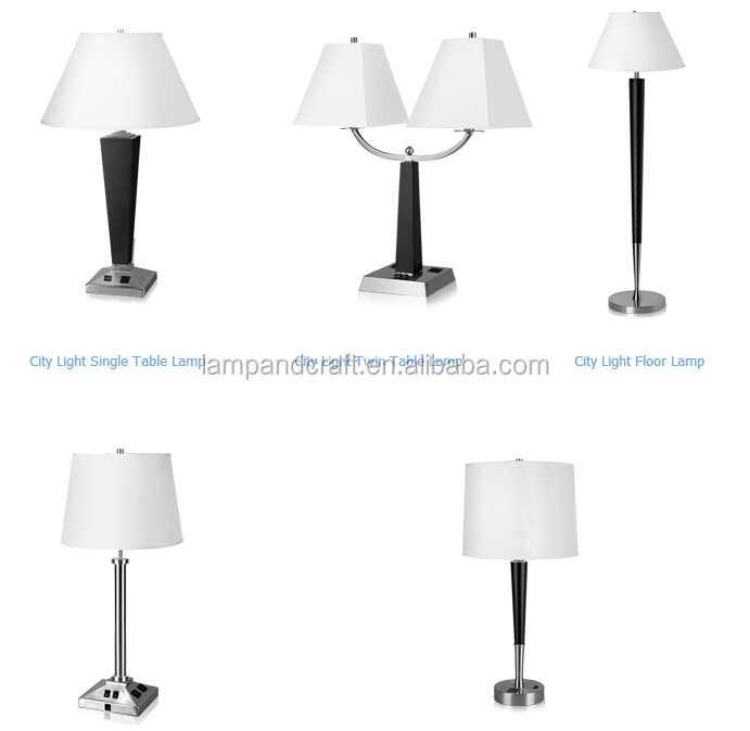 Breeze Hotel Lamp Set Ul Cul Metal Table Lamp With Usb