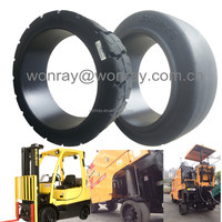 12 inch rubber wheel 12x4 1/2x8 12x4.5x8 305x114.3x203.2 press on solid tires factory in China