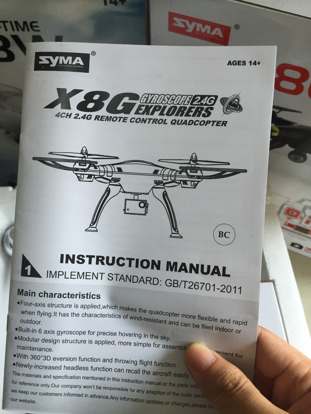 Professional Drone Syma X8c X8w X8g Quadcopter 2 4g 6 Axis Headless Mode Rc Helicopter No Camera