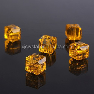 cube german glass beads ,4mm opaque glass bead
