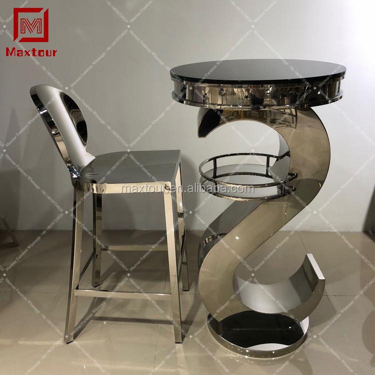 Golden frame cadeira de tamborete de barra de aço inoxidável