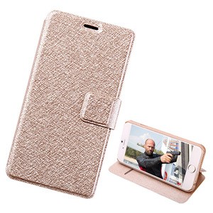 Silk Pattern Flip Stand Card Holder Leather PU Wallet Phone Case Cover For Apple Iphone 6
