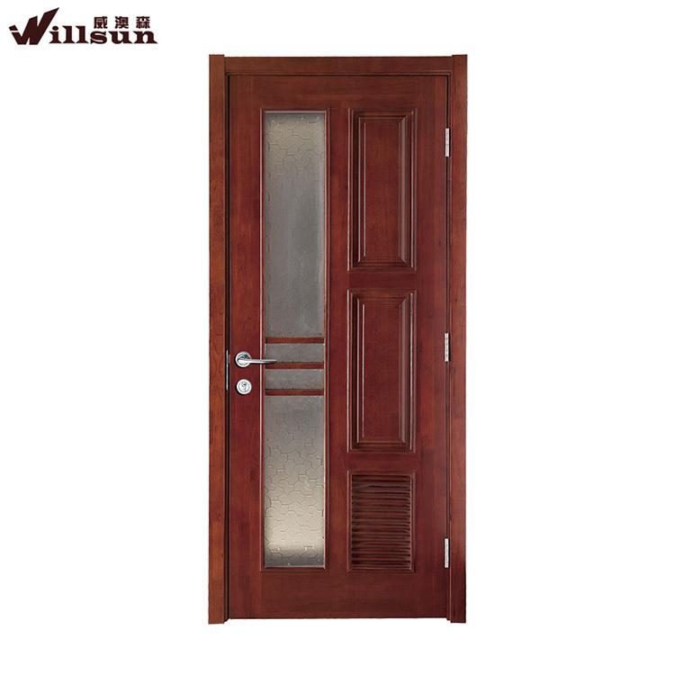 Indian Model Teak Solid Wood Veneer Paint Door With