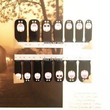 Black Penguin Lovely Nail Arts Sticker 14 pcs set Waterproof Nail Decal Art Sticker Gel Polish