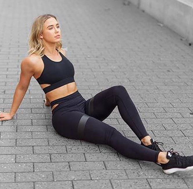 2018 Ebay Amazon Hot Sell Two Pieces Long Pants Sport Sexy Yoga Suits Women 3