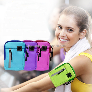 Outdoor Sports Arm Pocket Double Zipper Pocket Sport Armband Arm Bag For Running