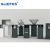 3d projector holographic display pyramid jewelry kiosk for mall