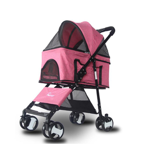 4 Wheels detachable Pet Stroller, cat stroller cat trolley factory wholesaler