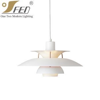 Classic white modern inside decoration lighting ph5 pendant lamp classic white modern inside decoration lighting ph5 pendant lamp with e27 aloadofball Choice Image