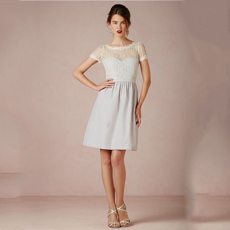 Modest Junior Bridesmaid Dresses With Sleeves 75